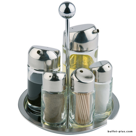 Rotating condiments and sauces serving stand
