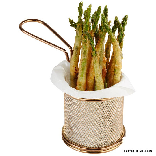 Small stainless steel basket gold colour for snack and fries
