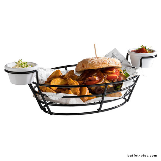 Serving basket Burger & Fries