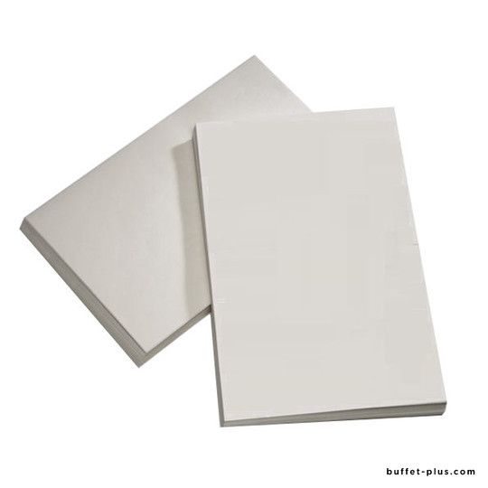 White greaseproof paper squares