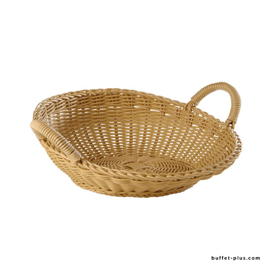 Inclined round basket with handles Profi Line collection