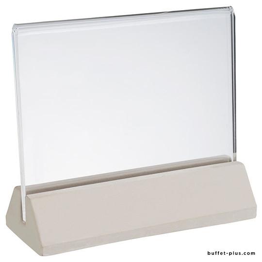 Concrete menu holder