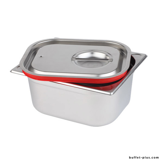 Airtight stainless steel GN cover with silicone seal