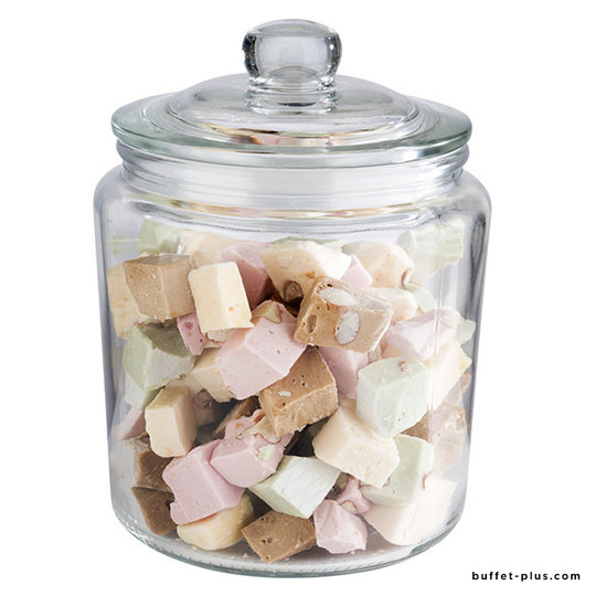 Glass canister with lid Classic