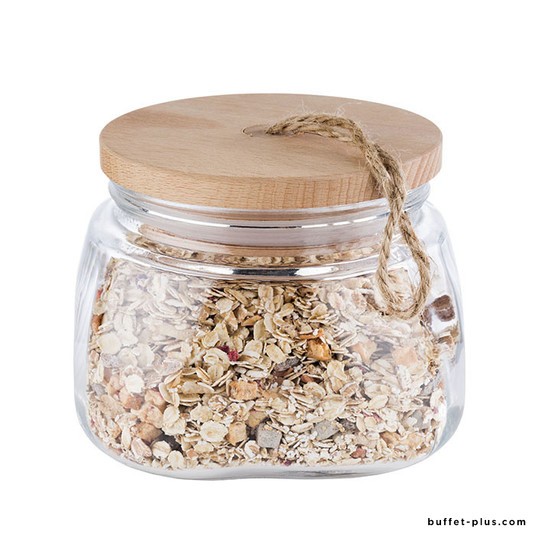 Canister with wood lid Woody