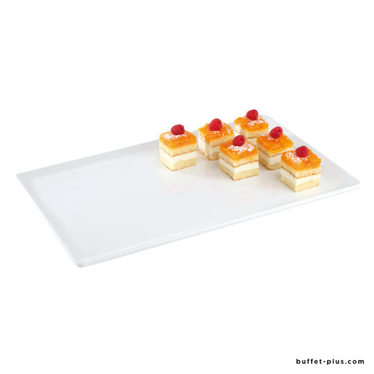 Black or white melamine tray Pure collection, GN dimensions or pastry norm