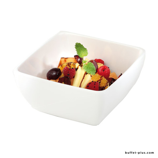 Melamine square bowl / salad bowl Pure Colour collection