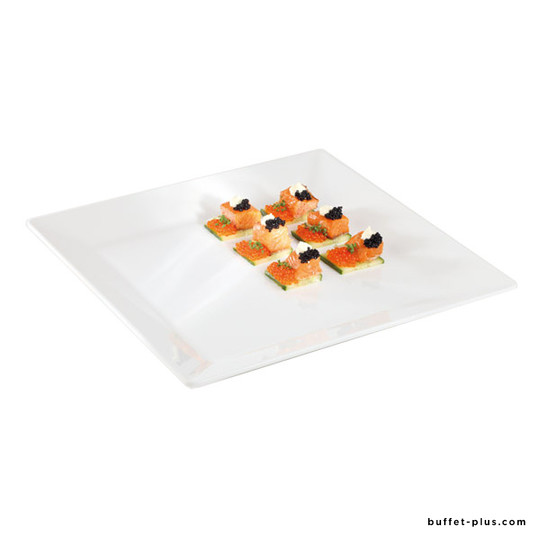 White melamine square plate / tray Pure