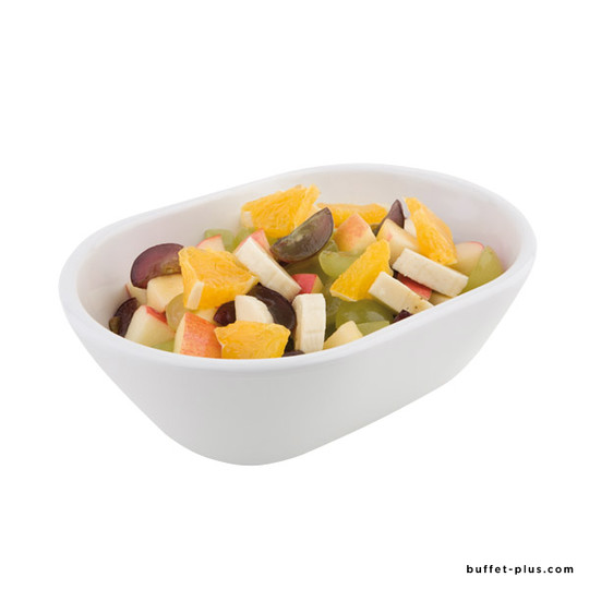 White oval melamine bowl / deep tray,  Pure collection