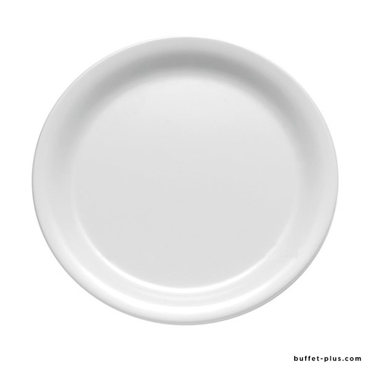 White melamine round plate, Casual collection