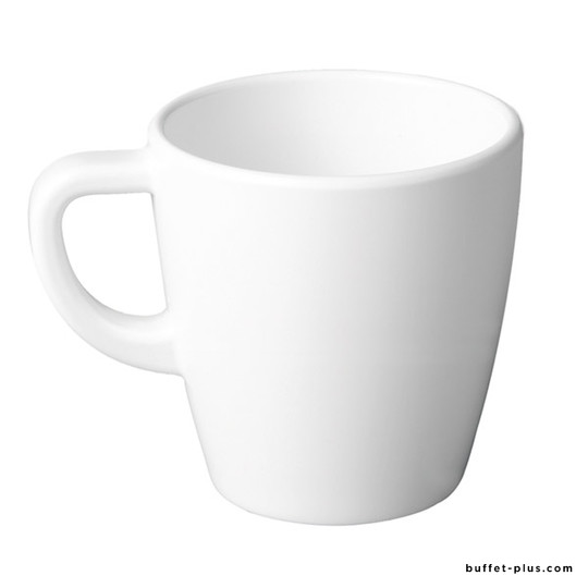 White melamine coffee cup, Casual collection