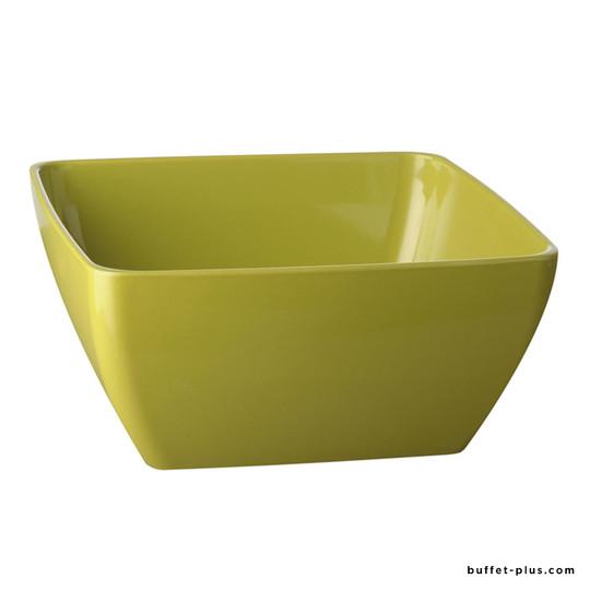 Melamine square bowl / salad bowl Pure Colour collection green