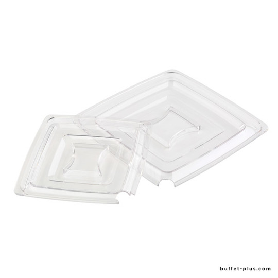 Clear cover with notch for spoon, Pure collection