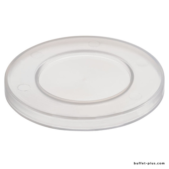 Set of 5 clear round covers polypro