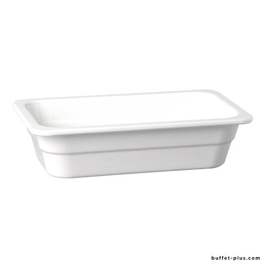 White melamine container GN 2/3 H 6,5 cm HighLine