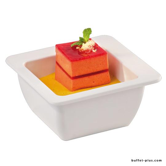 White melamine square bowl / salad bowl Appart collection