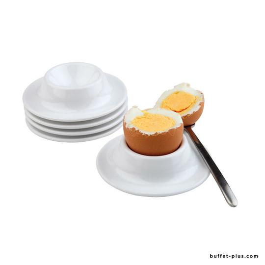 Egg holder, white melamine, set of 4