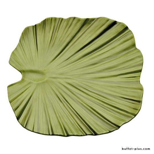 Melamine square plate leaf shaped, Natural collection