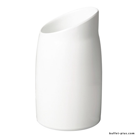 Black or white melamine dressing pot Classic Wave collection