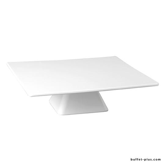 White melamine square cake plate