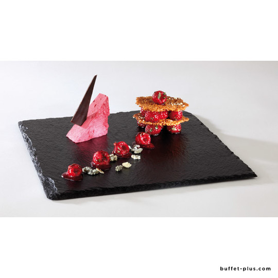 Melamine tray, slate imitation GN dimensions