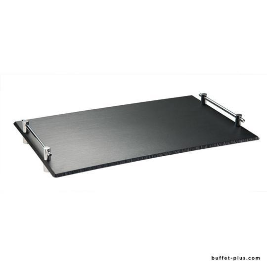 Melamine tray, slate imitation GN dimensions with handles