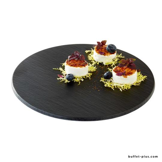 Melamine round tray, slate imitation