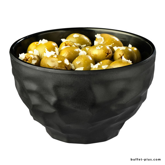 Melamine bowl / salad bowl, black colour, Fusion collection