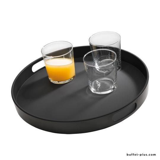 Non-slip tray, two open handles
