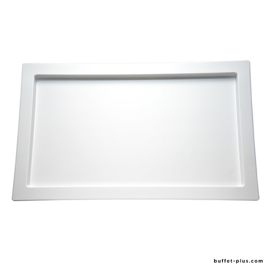 White melamine tray with edge GN dimension, Frames collection