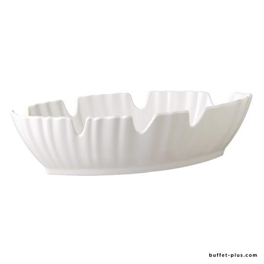 Melamine salad bowl palm leaf shaped, Natural collection