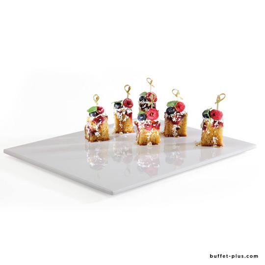 Melamine white Zero tray mirror surface GN dimensions
