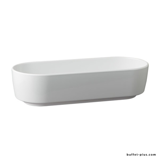 White melamine oval basket Scantic collection
