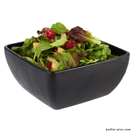 Square Melamine salad bowl, slate imitation