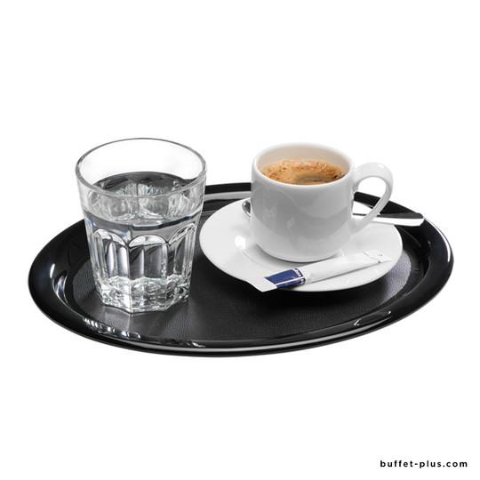 Oval melamine non sleep tray