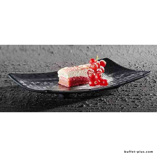 Melamine plate / tray straight edge Glamour collection