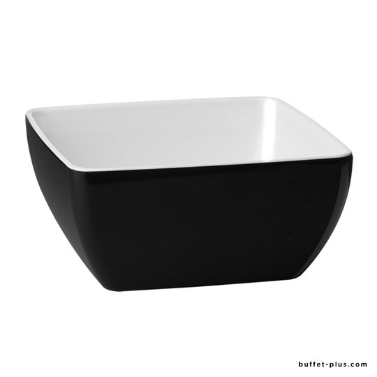 Square melamine bowl / salad bowl, Pure Bicolour collection
