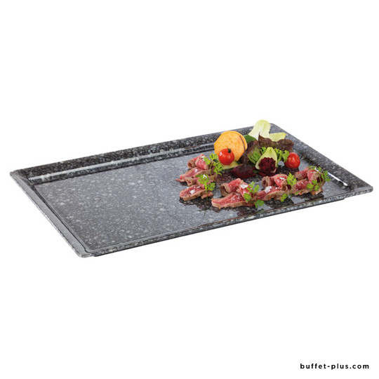 Melamine tray GN dimensions granite stone effect, Pure Granit collection