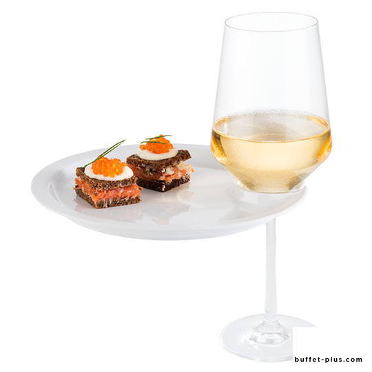 Plate with glass holder