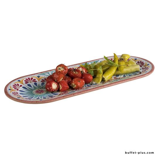 Oval tray Arabesque