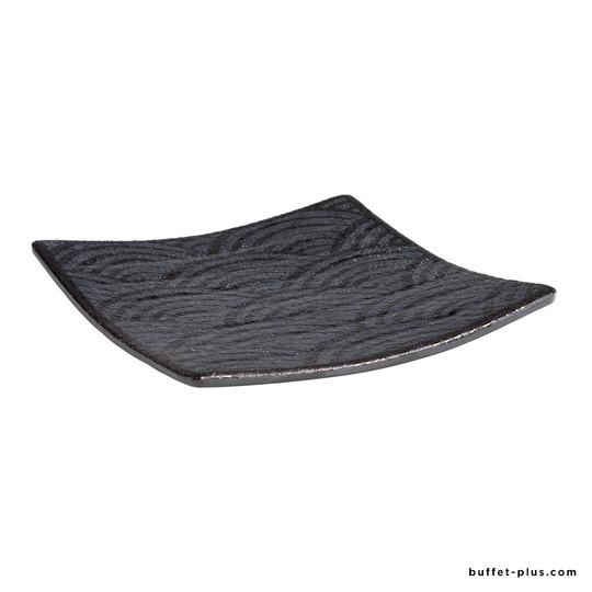 Square tray / plate Dark Wave