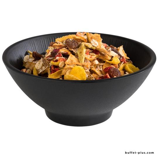 Nero black melamine salad bowl