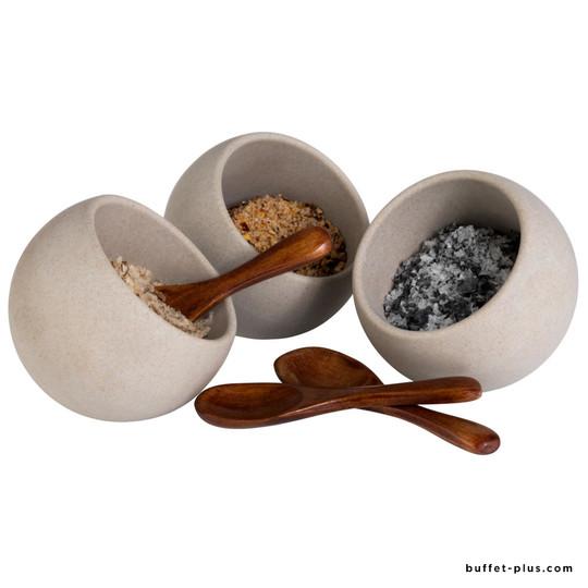 Set of 3 slanted bowls Moon