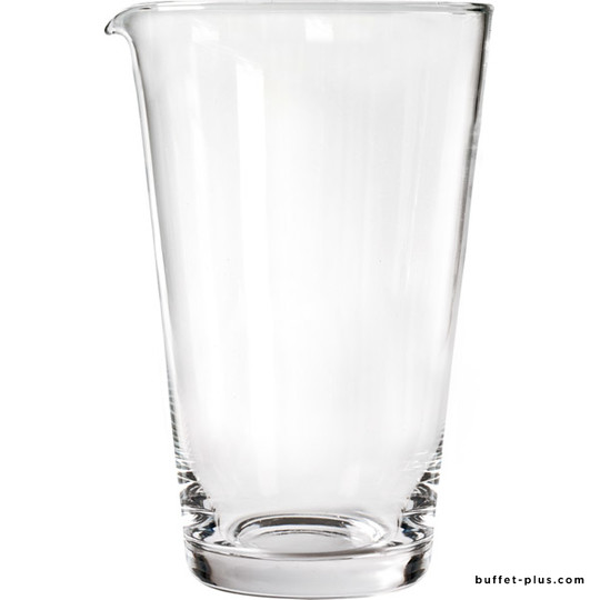 Mixing glass with lip