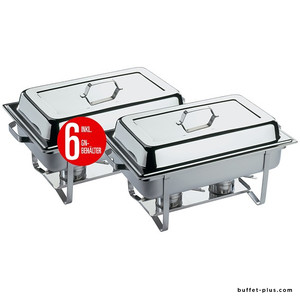 Set of 2 complete chafing dishes