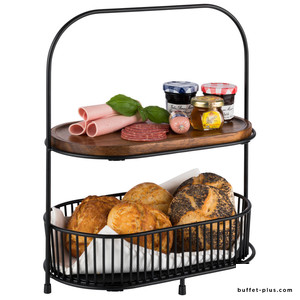All Rounder black metal double basket