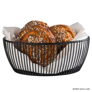 Black oval metal basket Svart