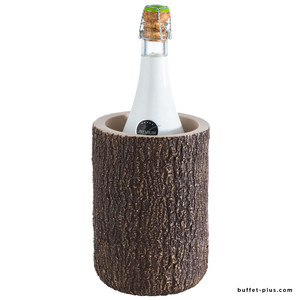 Concrete bottle cooler with coconut look