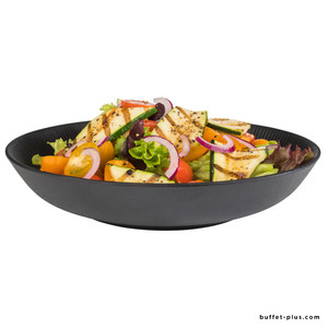 Large black melamine soup plate Nero