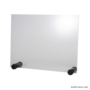 Transparent plexiglas panel with opening round feet